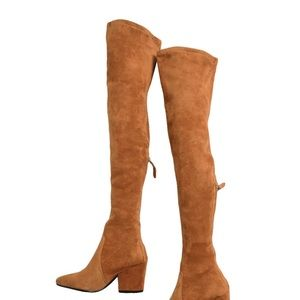 Goodnight Macaroon Over the Knee Suede Boots
